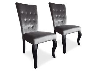 Chaises design Elisabeth VENDU PAR 2 gris