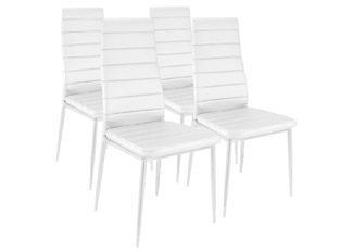 Lot de 4 chaises Softy blanc