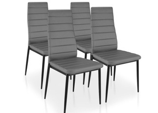 Lot de 4 chaises Softy gris