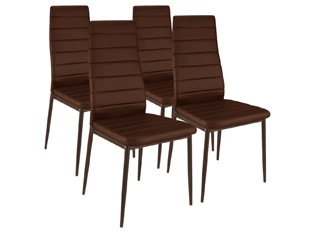 Lot de 4 chaises Softy marron