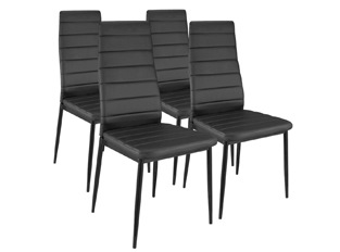 Lot de 4 chaises Softy noir