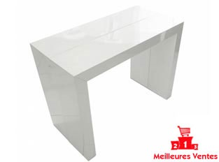 Table console blanche