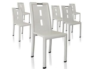 Lot de 4 chaises design Vogue blanc
