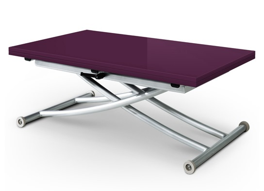 Table basse relevable Carrel violet