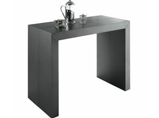 Table console gris satine