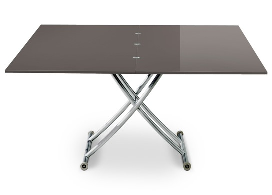 Table basse relevable Carrel XL gris foncé