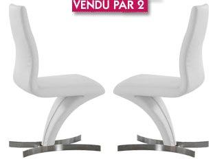 Lot de 2 chaises Faster blanc