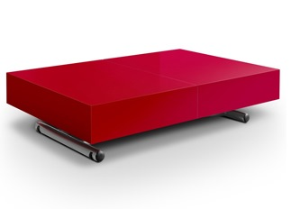 Table basse relevable Casper rouge