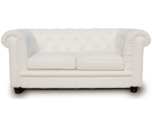 Chesterfield 2 places blanc