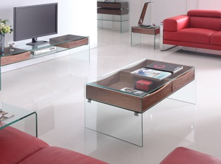 Table basse en verre Glasswood