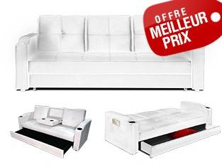 Espaceadesigncom meubles design a petit prix en stock for Petit canapé convertible avec magasin tapis