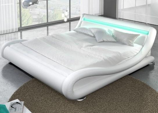 Lit LED avec télécommande et un sommier à lattes
