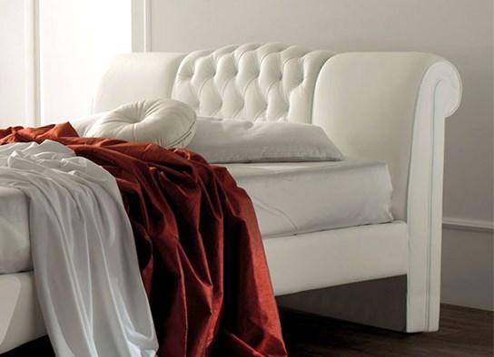 Lit design Sandra 140 cm Blanc
