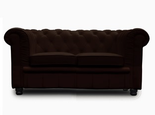 Chesterfield 2 places marron