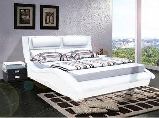 Lit design Rivera 140 cm blanc