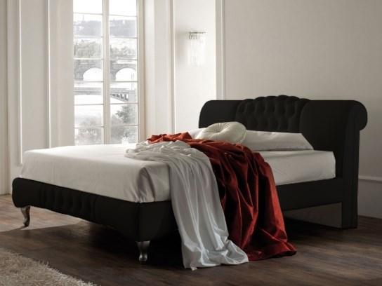 Lit design Sandra 140 cm noir