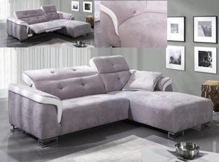 Canapé d'angle design relation éléctrique LORIANE