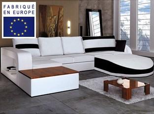 Canapé d'angle design Nirvana Noir