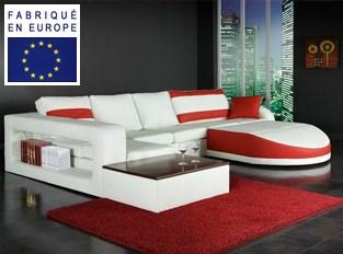Canapé d'angle design Nirvana Rouge