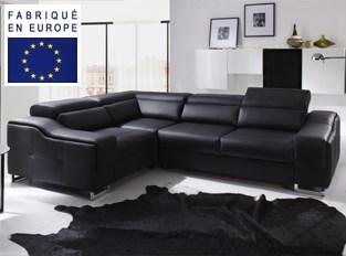 Canapé d'angle convertible design Gosta Noir