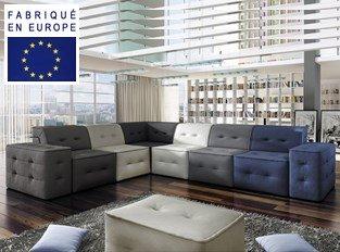 Canapé d'angle design Cubus