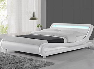 Lit led design Julio Blanc 140cm