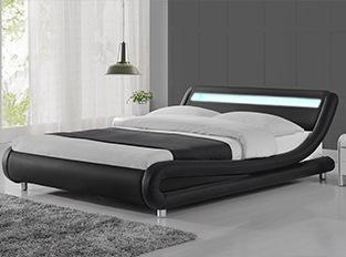 Lit led design Julio Noir 140cm