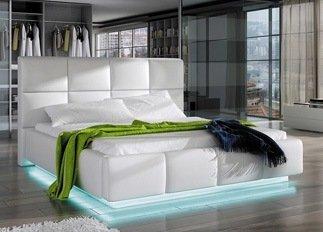 Lit design ALEX blanc 140 cm