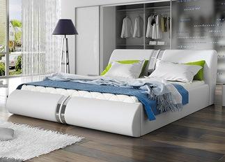 Lit design XENA blanc 140 cm