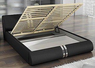 Lit design XENA noir 140 cm