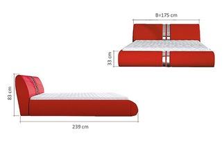 Lit design XENA rouge 140 cm