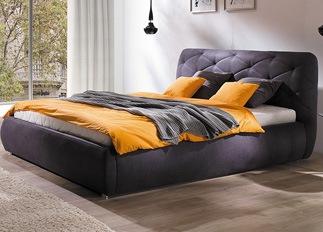 Lit design FLEUR violet 140 cm