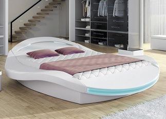 Lit LED design FIONA blanc 140 cm