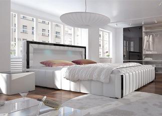 Lit LED design LAGON blanc 140 cm
