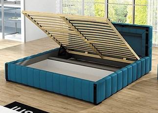 Lit LED design LAGON bleu 140 cm
