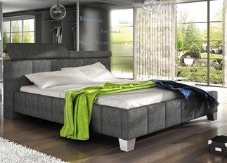 Lit design SANTO gris 140 cm