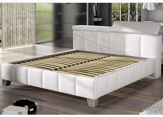 Lit design SANTO blanc 140 cm
