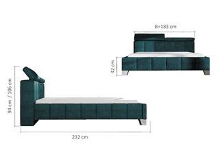 Lit design SANTO turquoise 140 cm