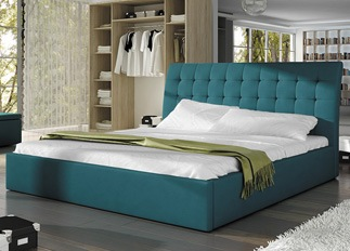 Lit design TERRY turquoise 140 cm