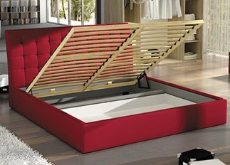 Lit design TERRY rouge 140 cm