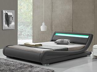 Lit design Julia Gris 140cm