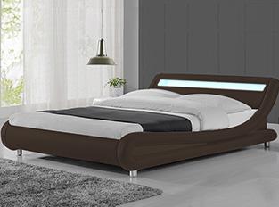 Lit led design Julio Marron 140 cm