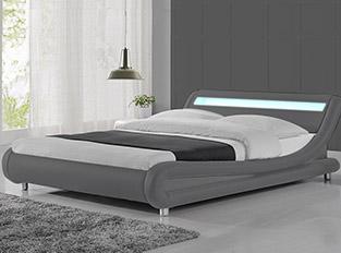 Lit led design Julio Gris 140 cm