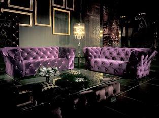 Canapé 3 place Royalfield violet