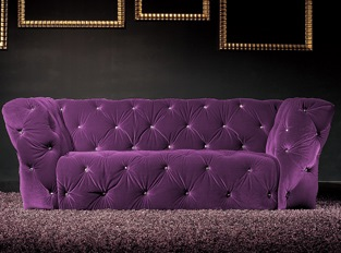 Canapé 2 places Royalfield violet