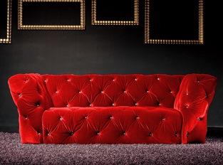 Canapé 2 places Royalfield rouge