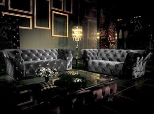 Canapé 3 places Royalfield noir