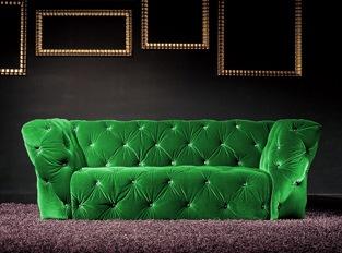 Canapé 2 places Royalfield vert