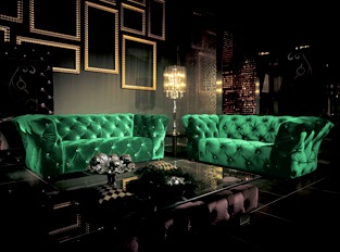 Canapé 3 places Royalfield vert