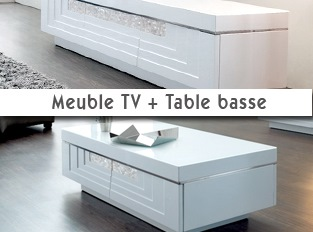 Ensemble meuble t l et table basse for Table basse tele
